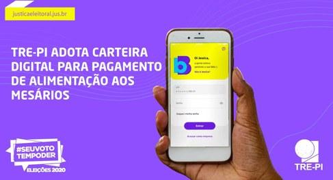 Mesários terão direito a auxílio alimentação por aplicativo no Piauí