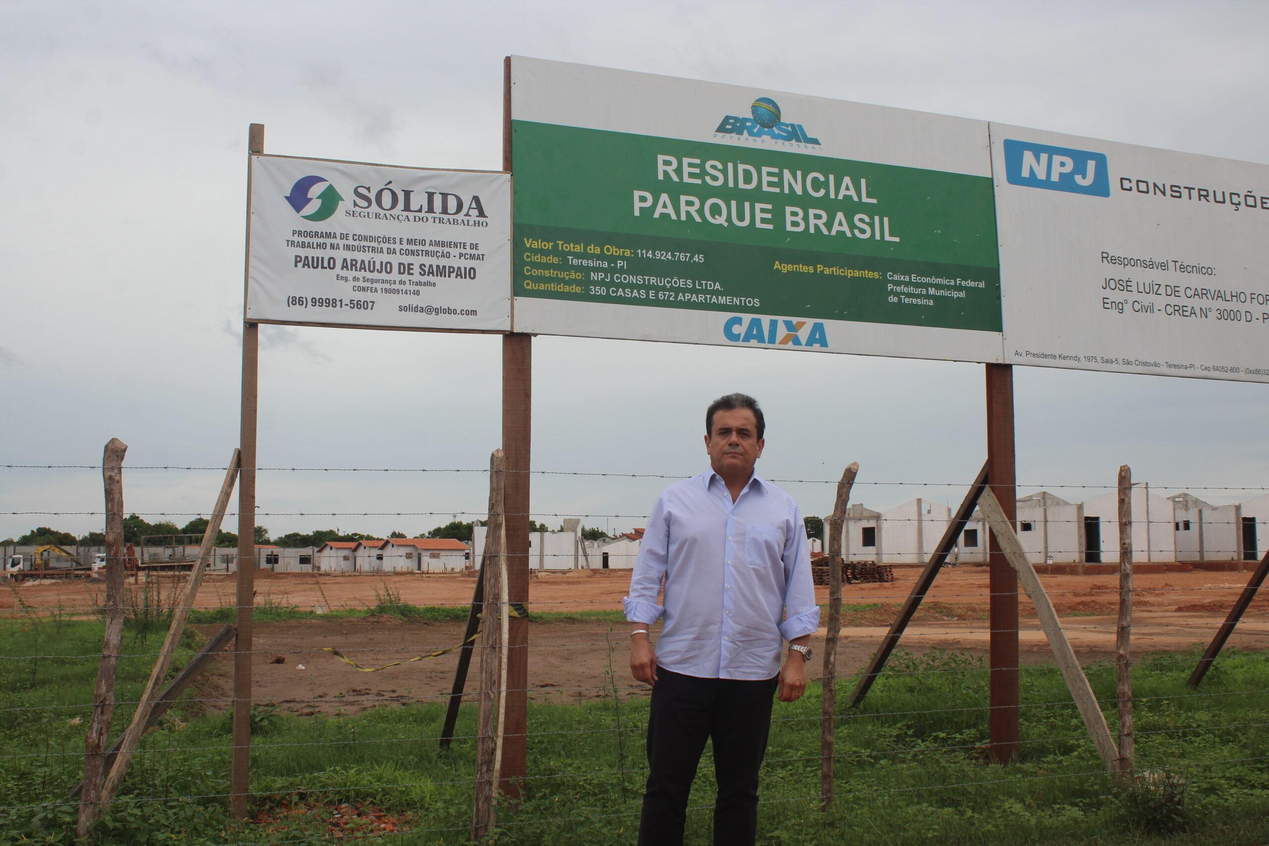 Obra do residencial Parque Brasil teve apoio de Henrique Pires